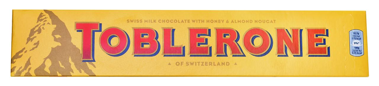 Шоколад Toblerone молочний з хрустким мигдалем 360г