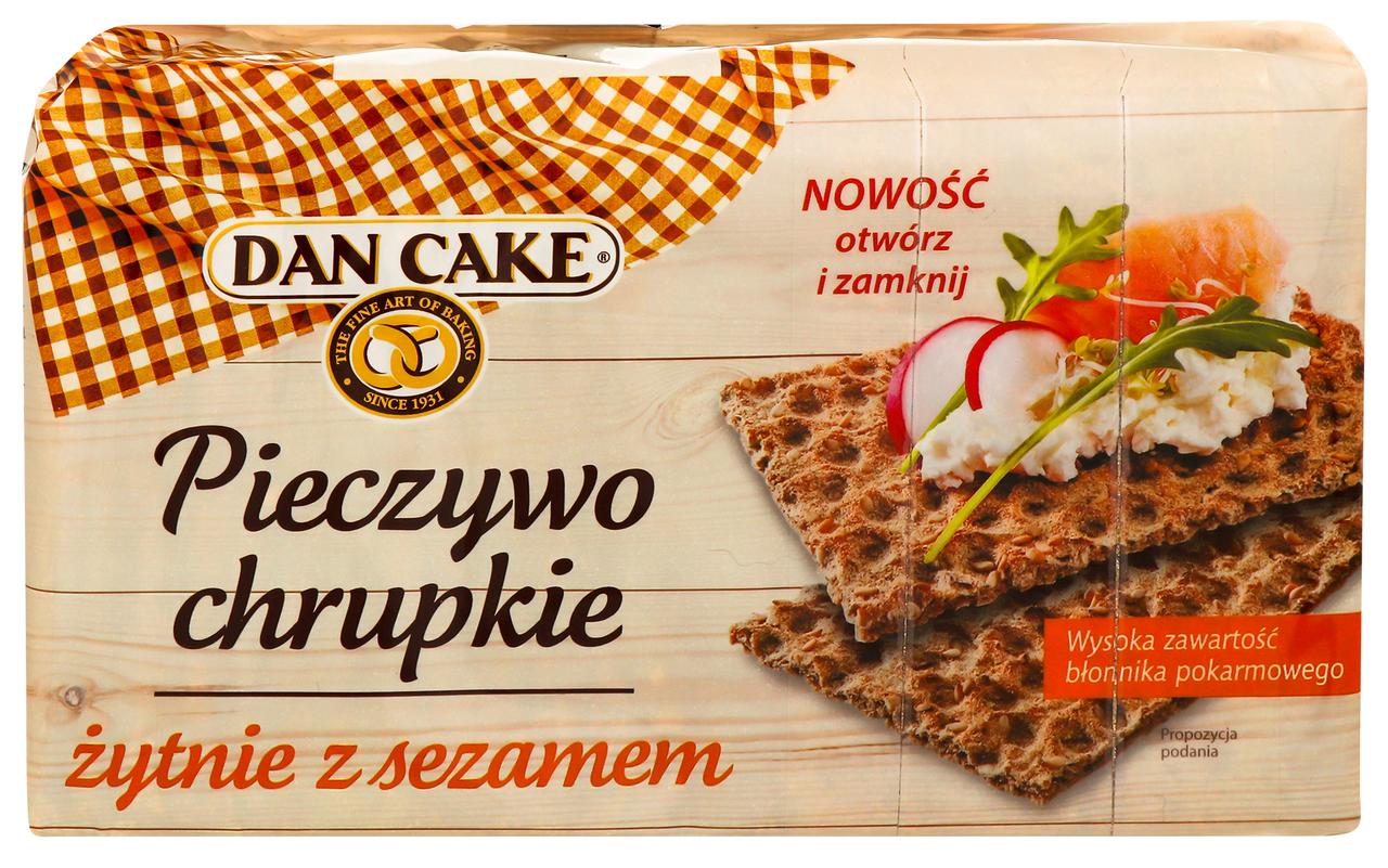 Хлібці Dan Cake житні з кунжутом 250г