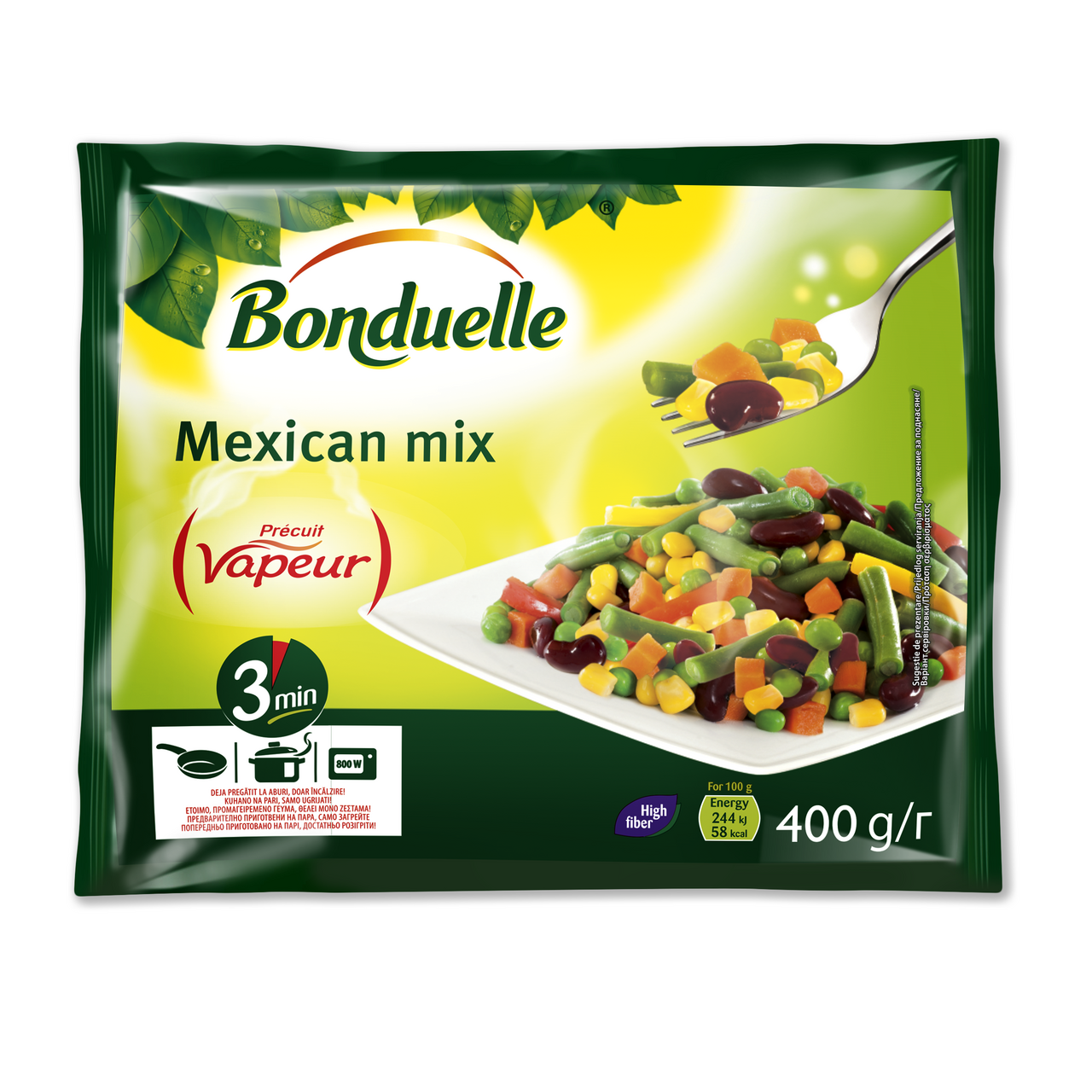 Овочева суміш Мексиканська на парі Bonduelle 400 г