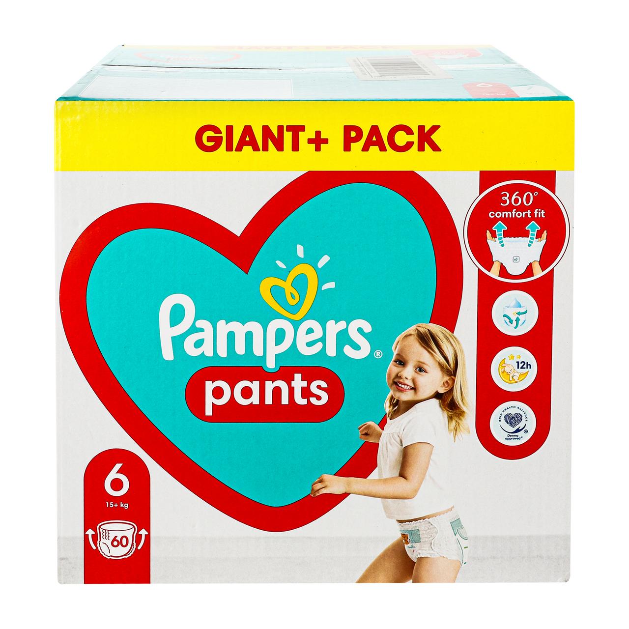 Трусики-підгузники Pampers 6 для дітей 15кг+ 60шт/уп