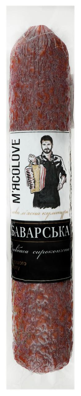 Ковбаса М`ясоlove Баварська сирокопчена 0.375кг