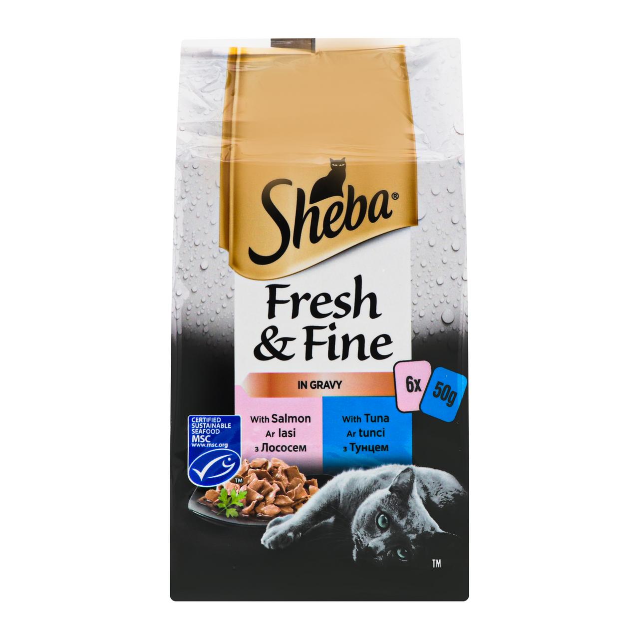 Набір кормів для котів Sheba Fresh&Fine in Sauce 6шт/уп