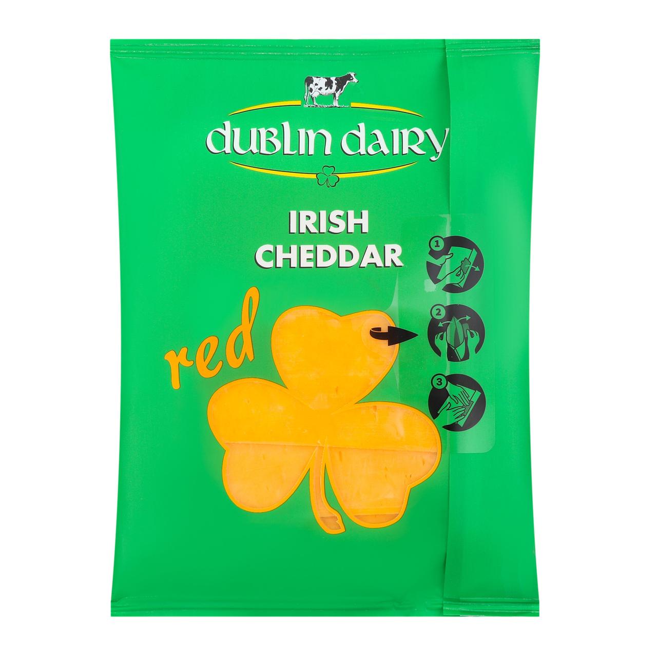 Сир Dublin Dairy Irish cheddar red нарізний 48% 150г