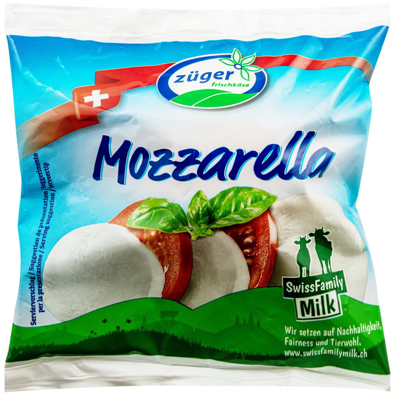Сир Züger Frischkäse AG Моцарела м`який 40% 125г