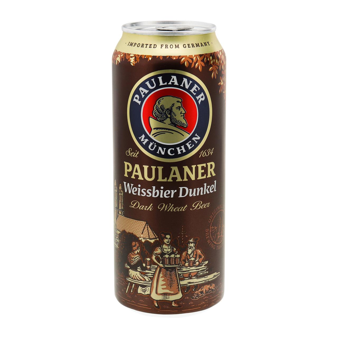 Пиво Paulaner Hefe-Weissbier Dunkel темне 5.3% 0.5л