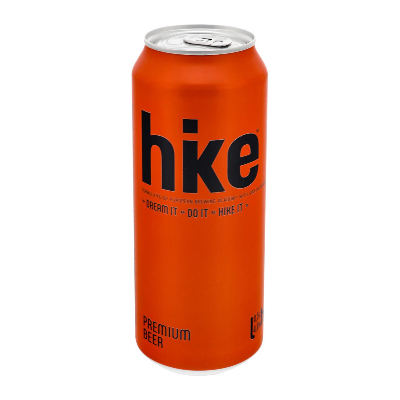 Пиво Hike Premium світле пастеризоване 4.8% 0.5л