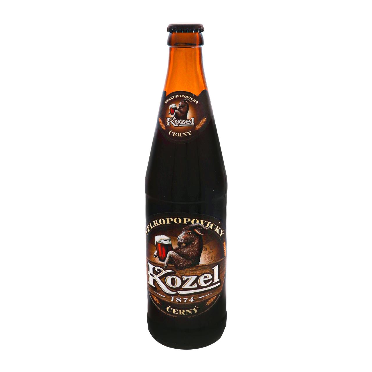Пиво Velkopopovicky Kozel Černý темне фільтроване 3.7% 0.45л