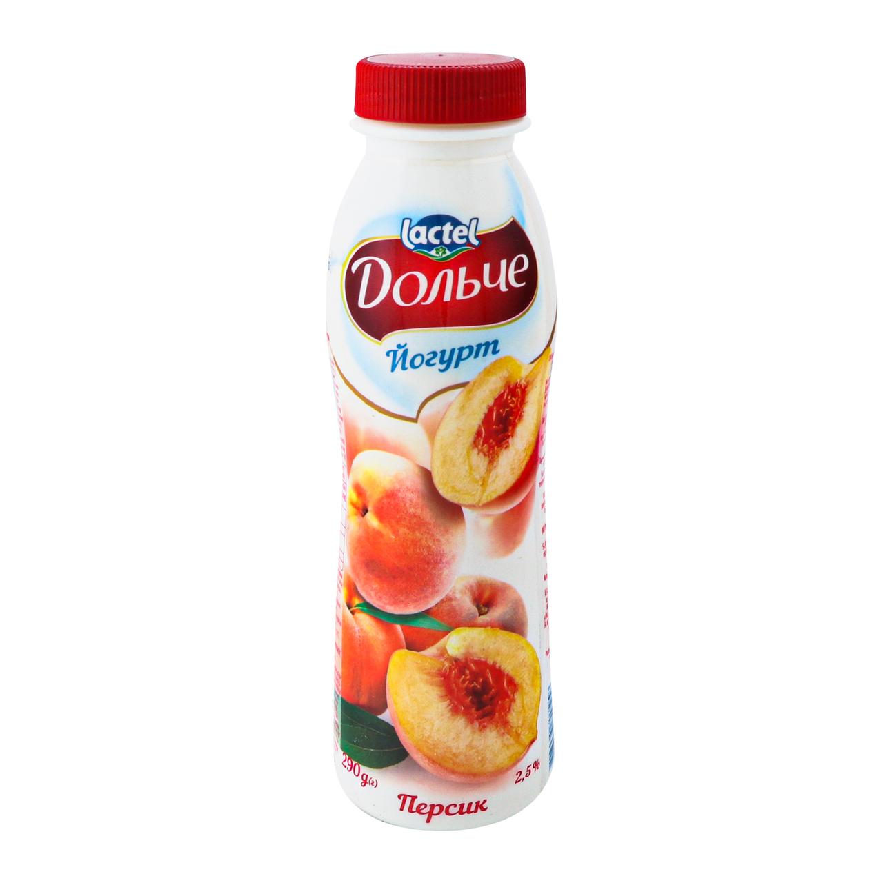 Йогурт Дольче Персик 2.5% 290г