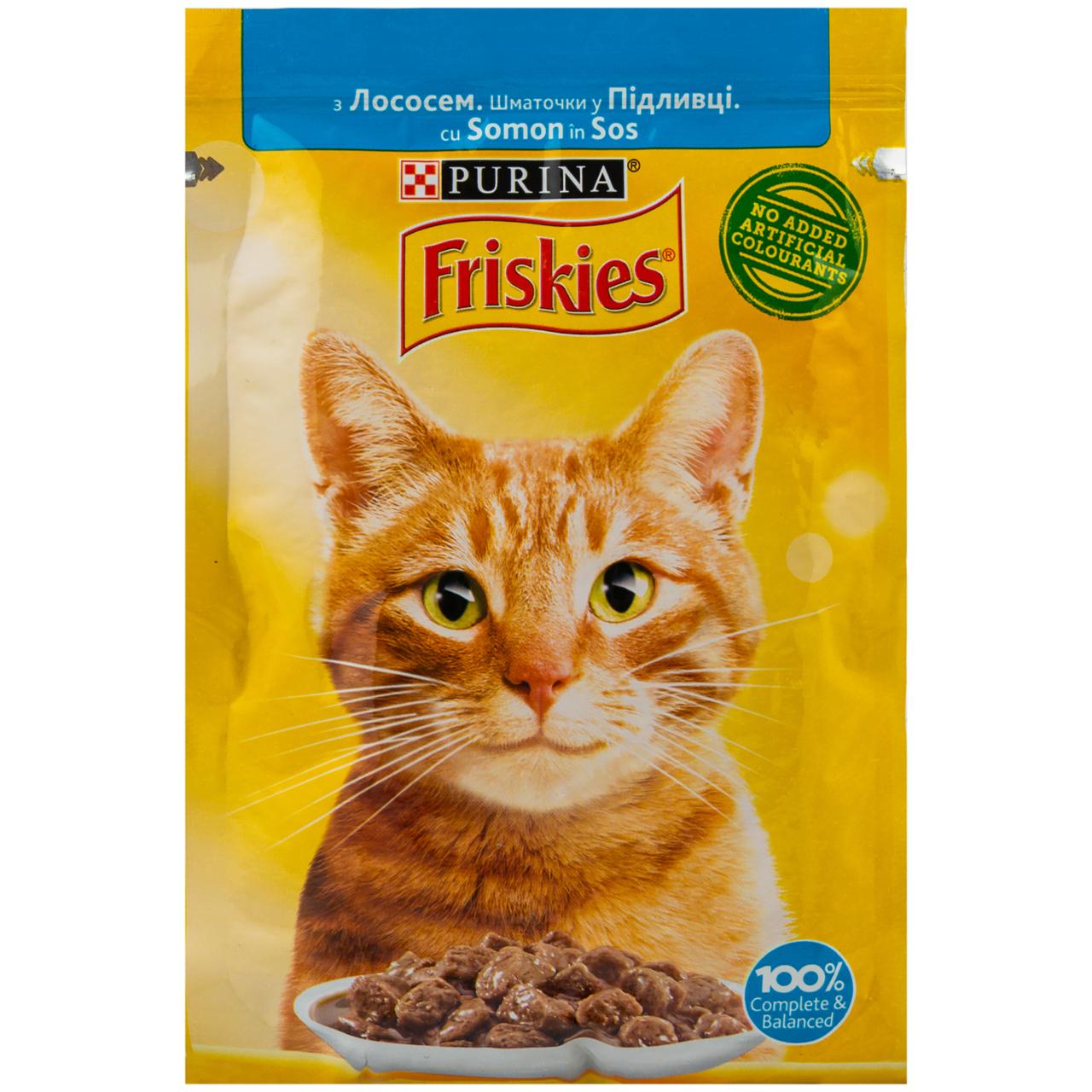 Корм вологий Friskies з лососем у підливці для котів 85г