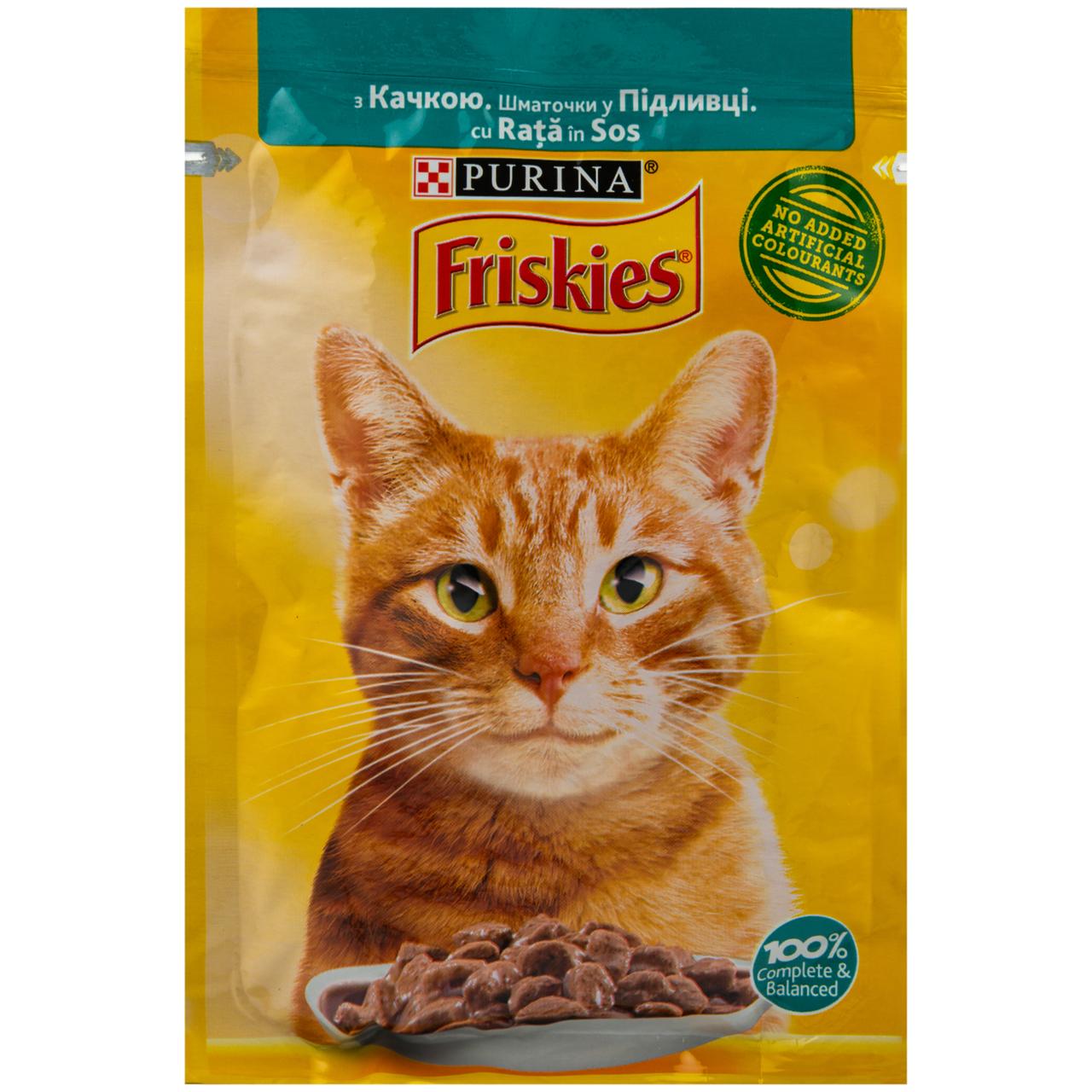 Корм вологий Friskies з качкою у підливці для котів 85г