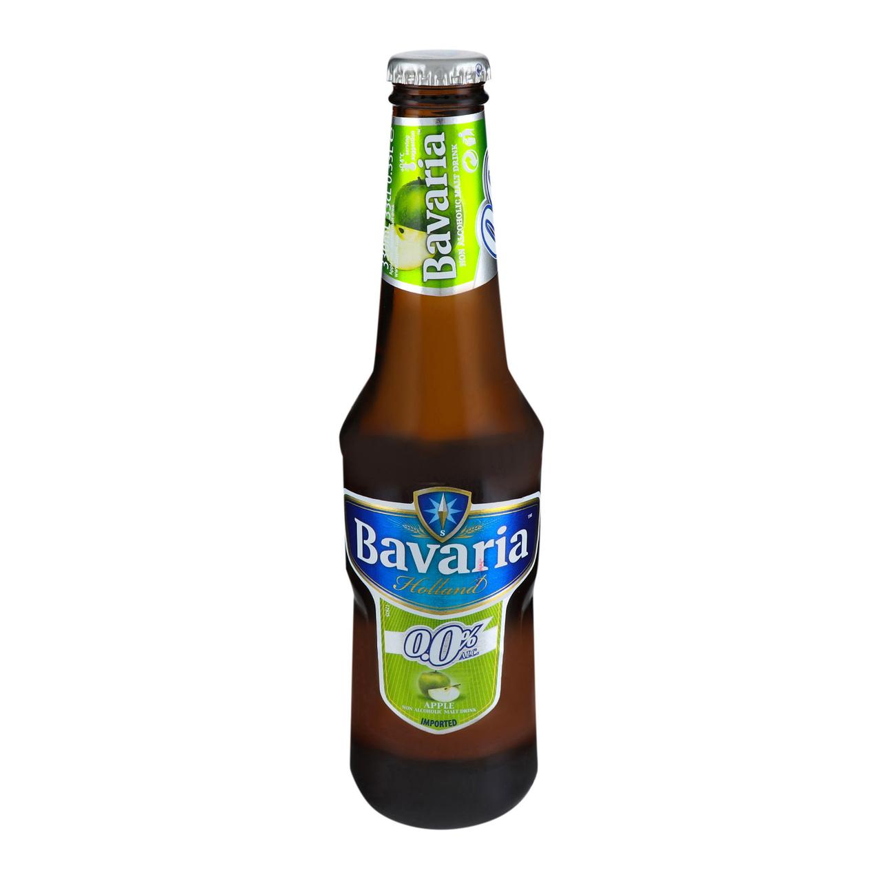Пиво Bavaria Apple світле фільтроване 0% 0.33л