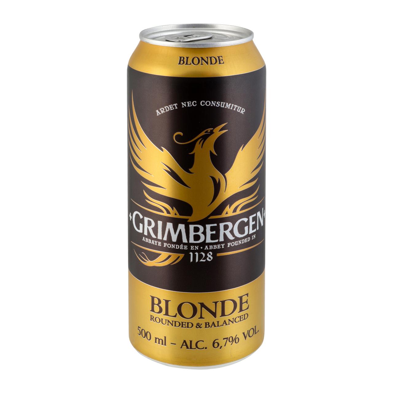 Пиво спеціальне Grimbergen Blonde світле пастер 6.7% 0.5л