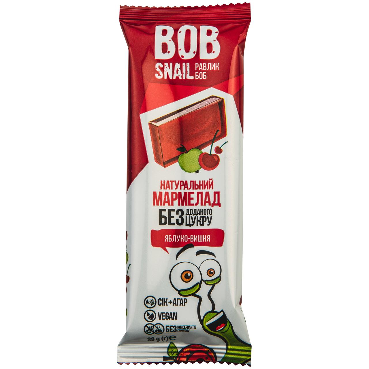 Мармелад Bob Snail Яблуко-вишня фруктово-ягідний 38г