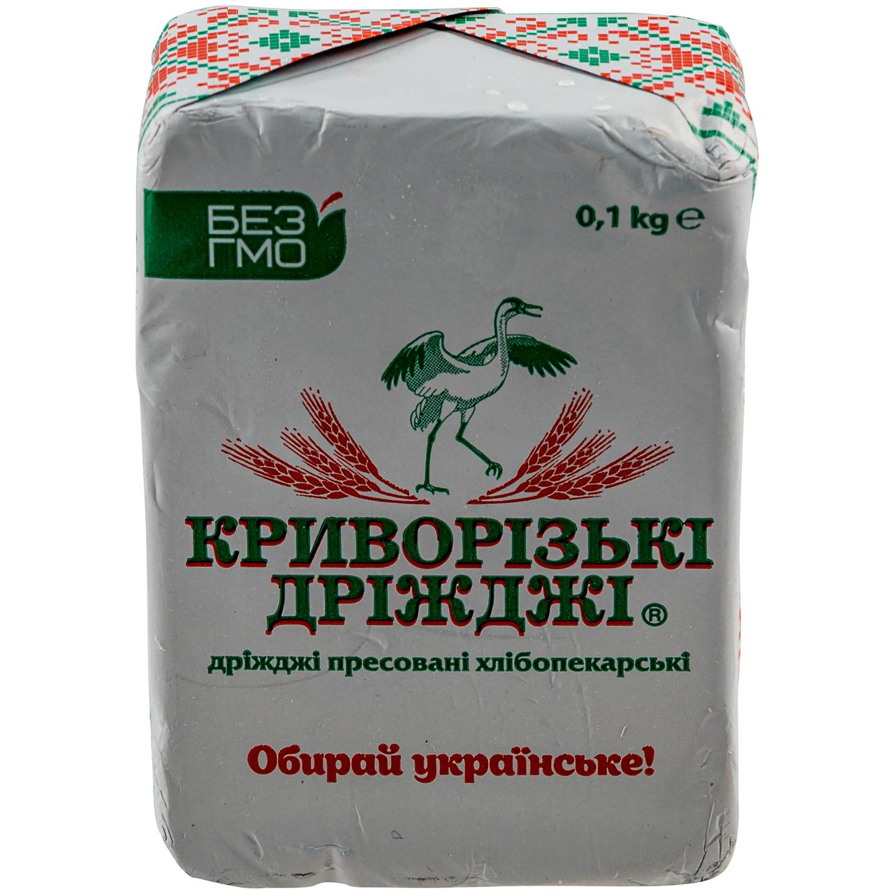 Дріжджі Криворізькі Дріжджі пресовані хлібопекарські 0.1кг