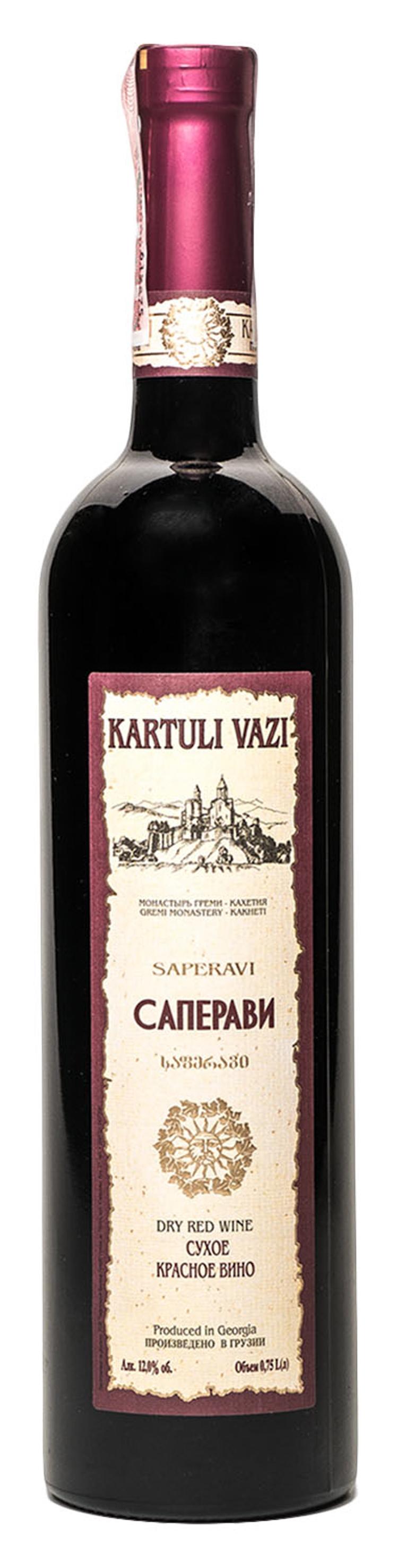 Вино Kartuli Vazi Сапераві червоне сухе 12% 0.75л