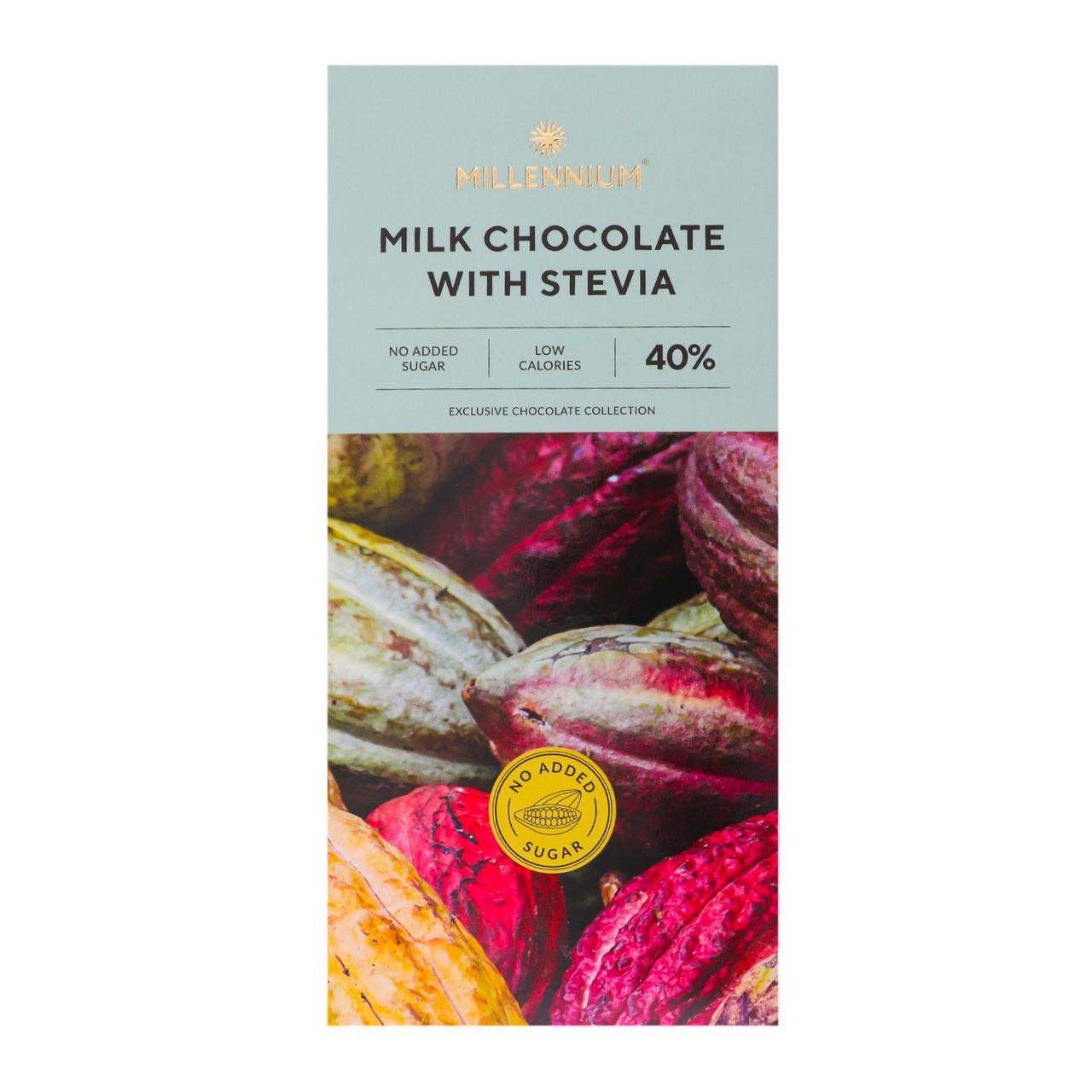 Шоколад Millennium Зі стевією молочний 100г
