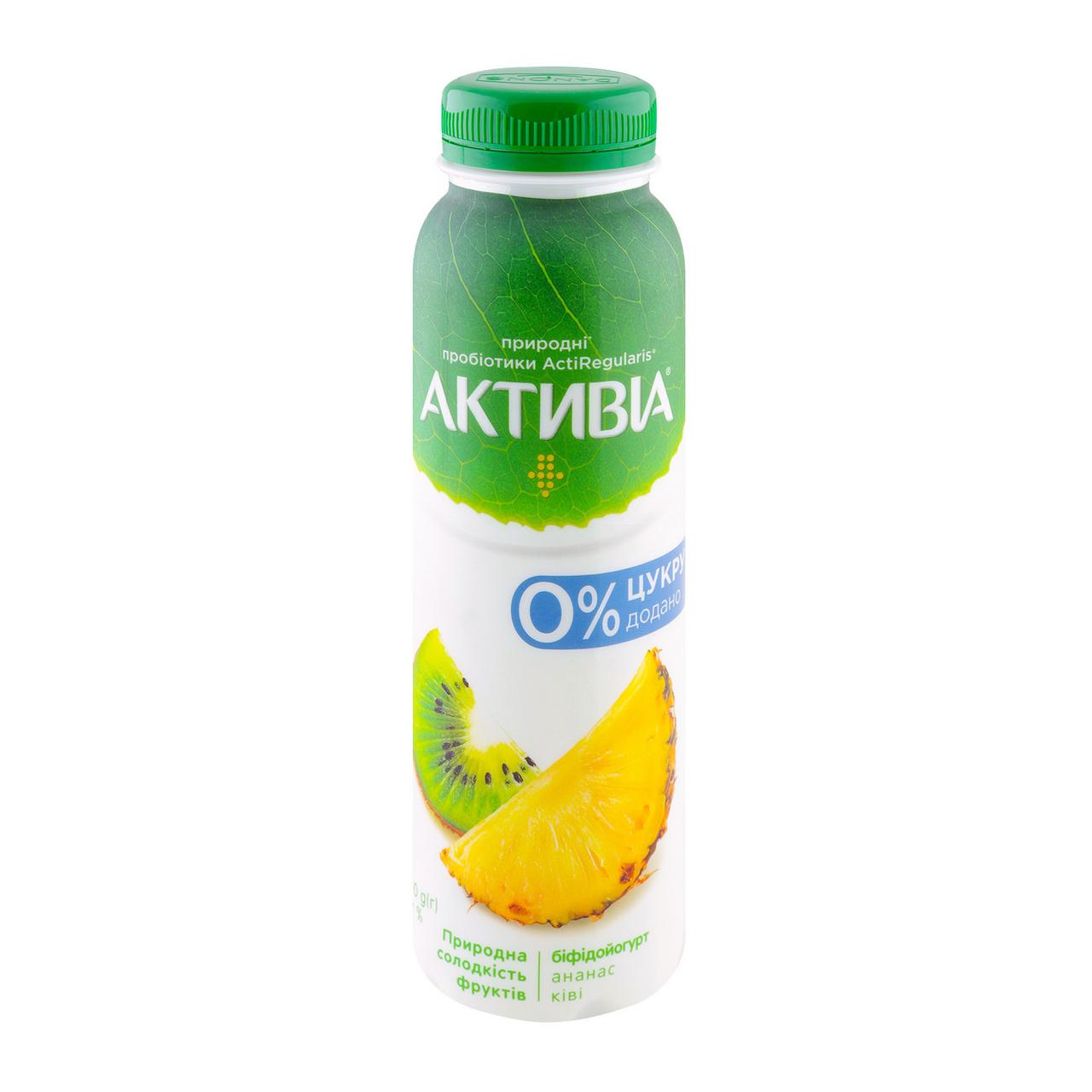 Біфідойогурт Активіа Ананас-ківі без цукру 1.2% 270г
