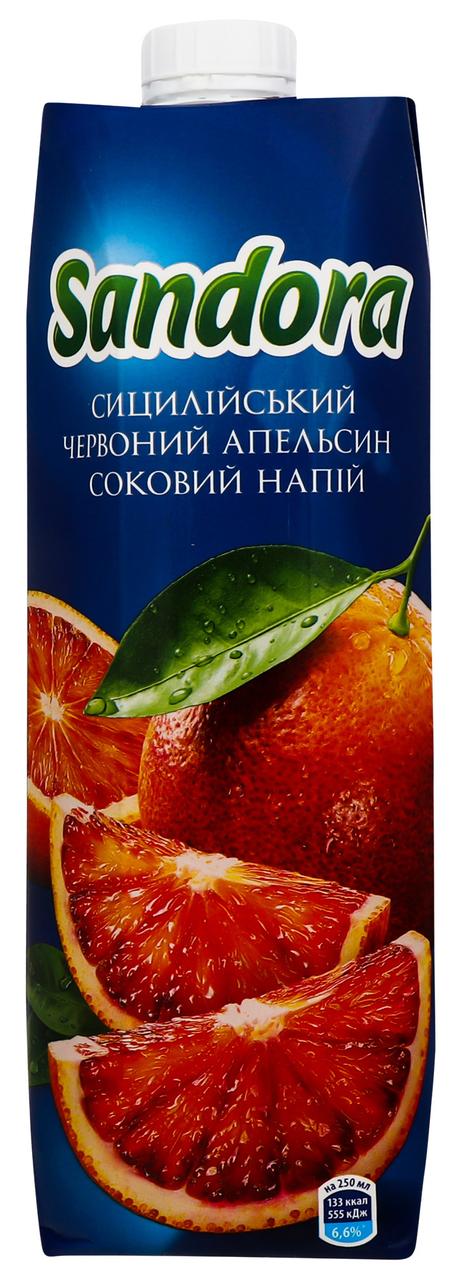 Напій соковий Sandora сицилійський червоний апельсин 0.95л