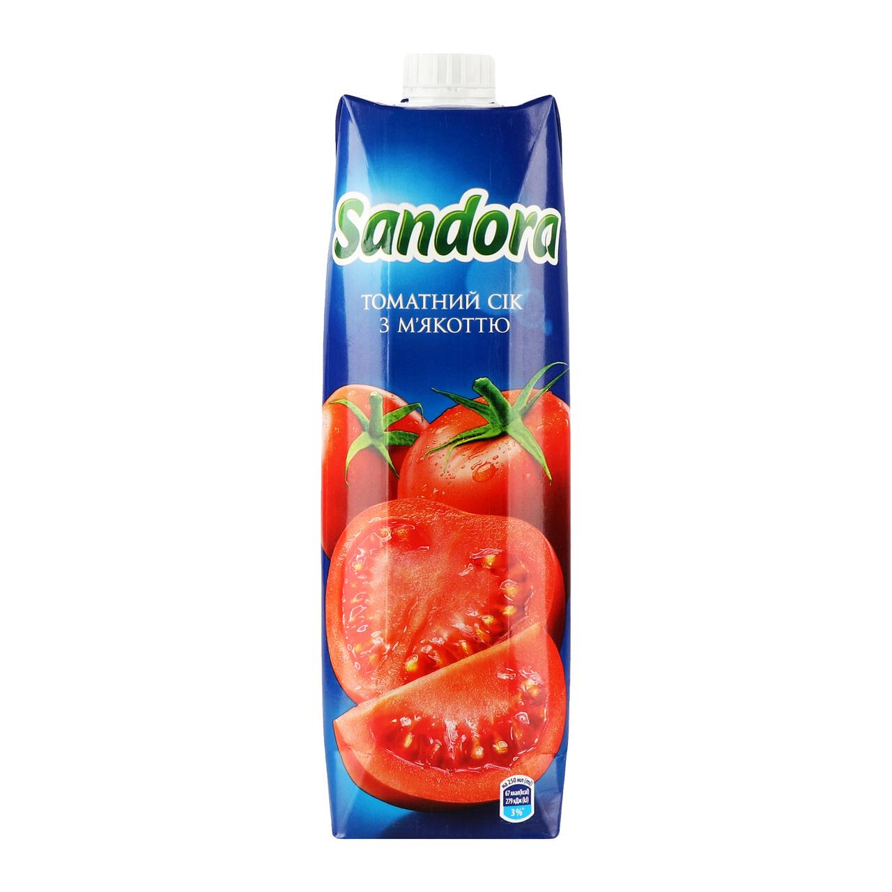 Сік Sandora Томатний з сіллю 0,95л