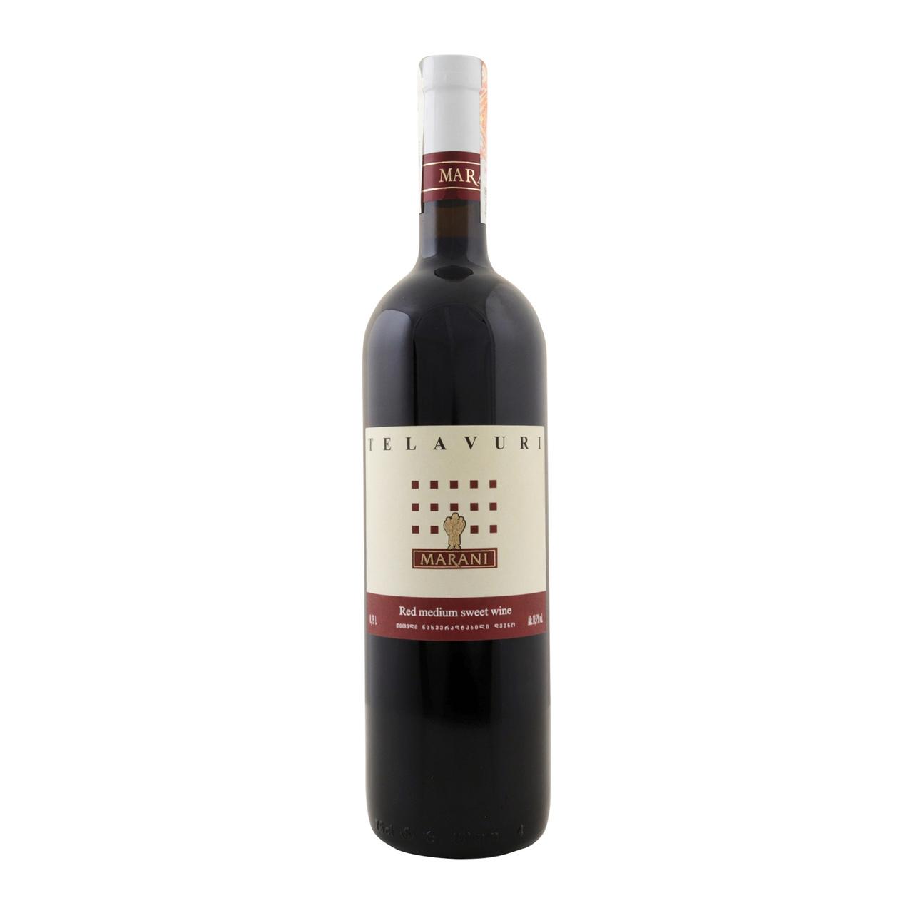 Вино Marani Телавурі червоне напівсолодке 11,5% 0,75л