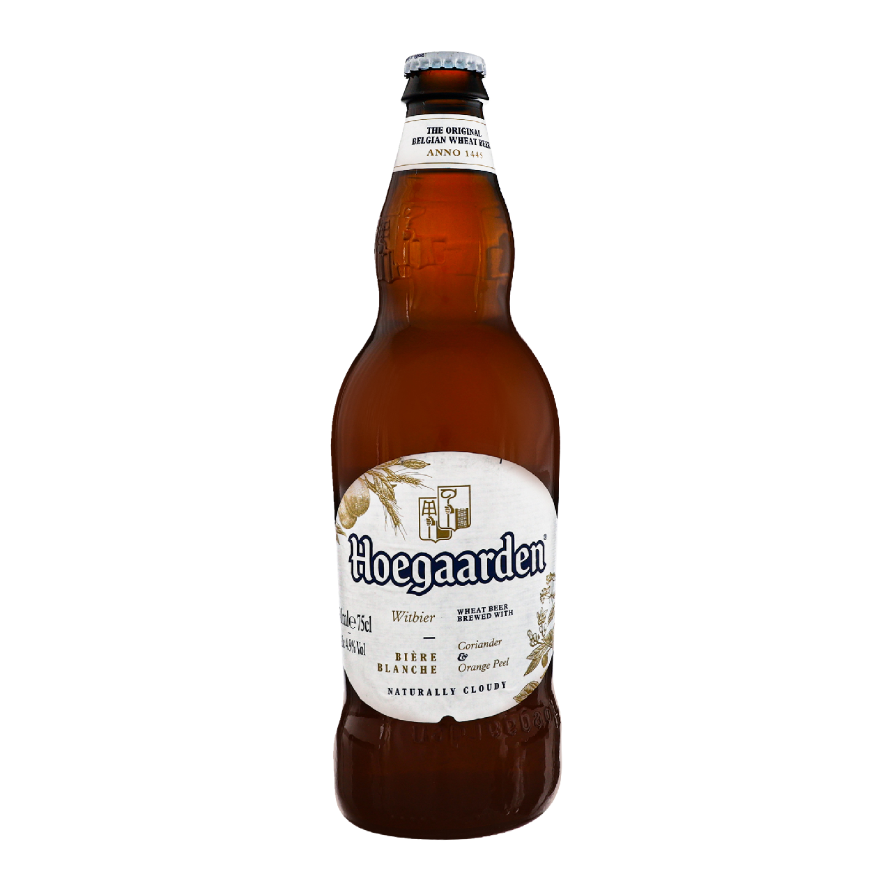 Пиво Hoegaarden Вlanche світле пастеризоване 4.9% 0.75л