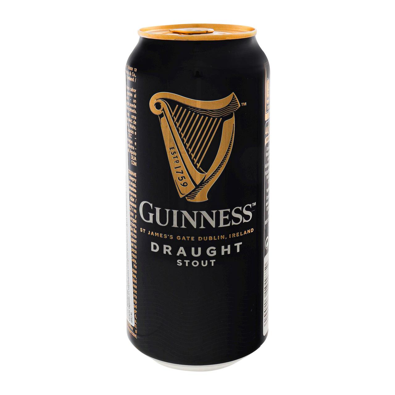 Пиво Guinness Draught темне пастеризоване 4.2% 0.44л