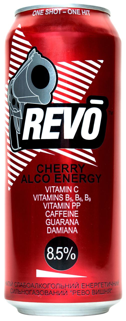 Напій слабоалкогольний енергетичний Revo Cherry 8-8,5% 0,5л
