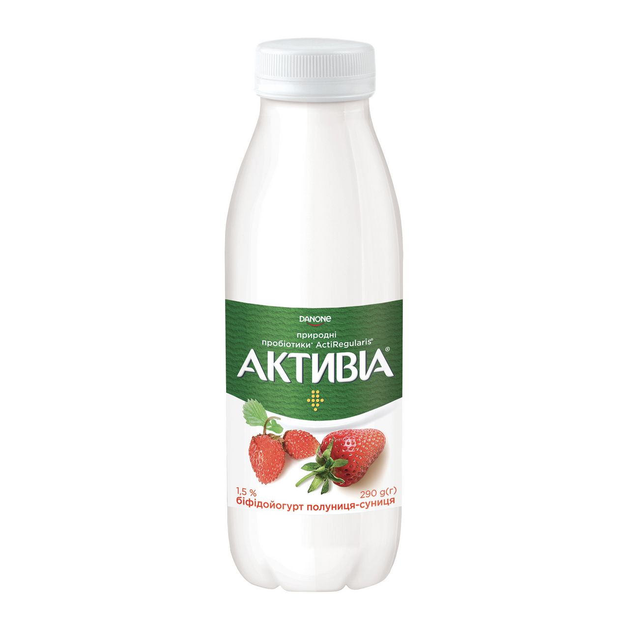 Біфідойогурт Активіа Полуниця-суниця 1.5% 290г
