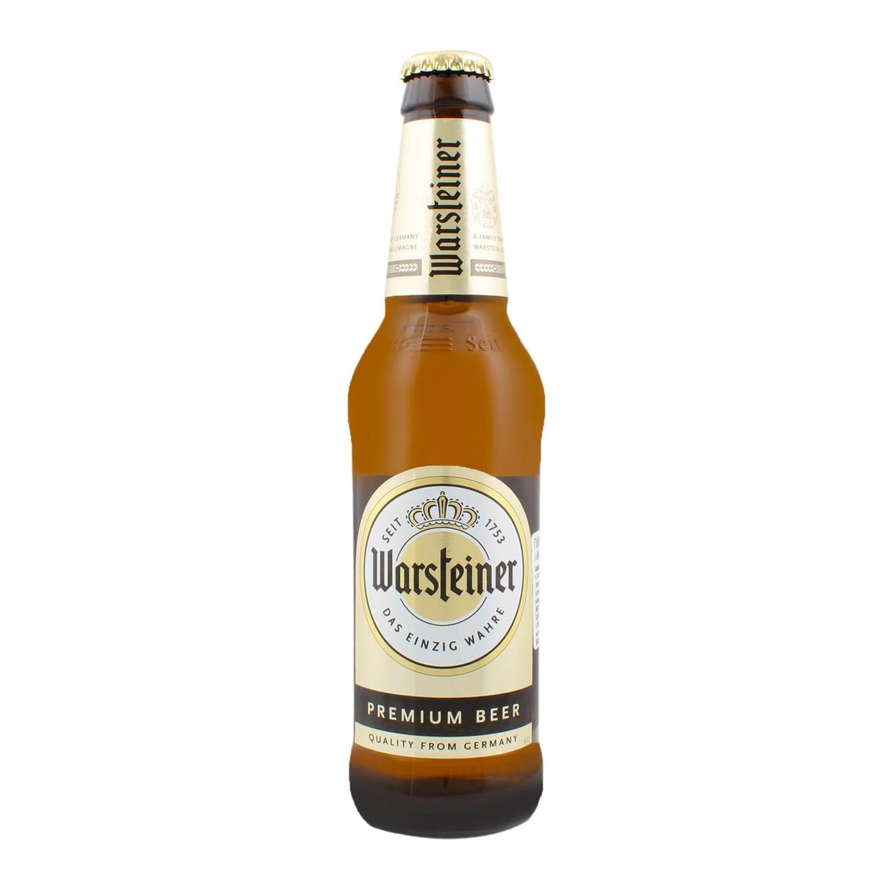 Пиво Warsteiner Premium світле 4,8% 0,33л