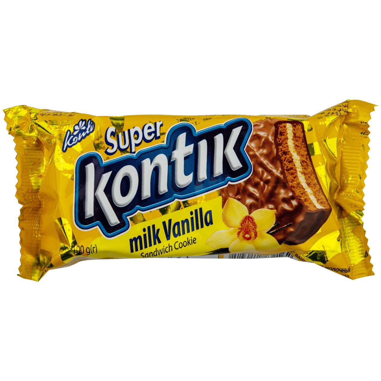 Печиво-сендвіч Konti Супер-Контік ванільний молочний 100г