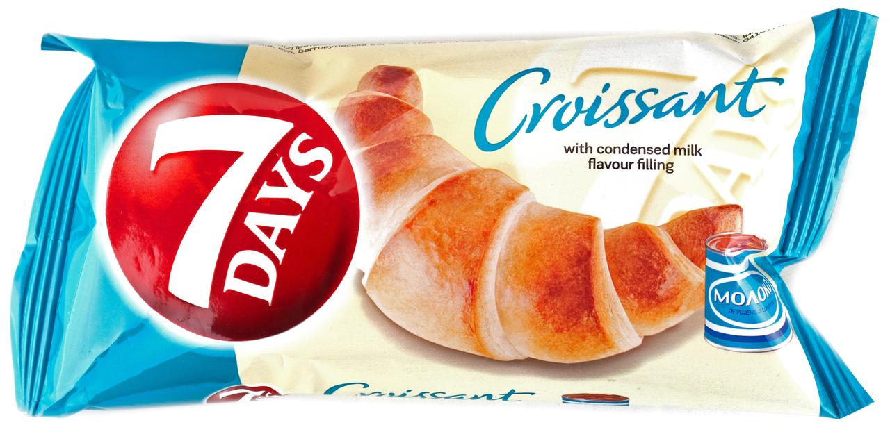 Круасан 7 Days з начинкою смак вареного згущеного молока 60г