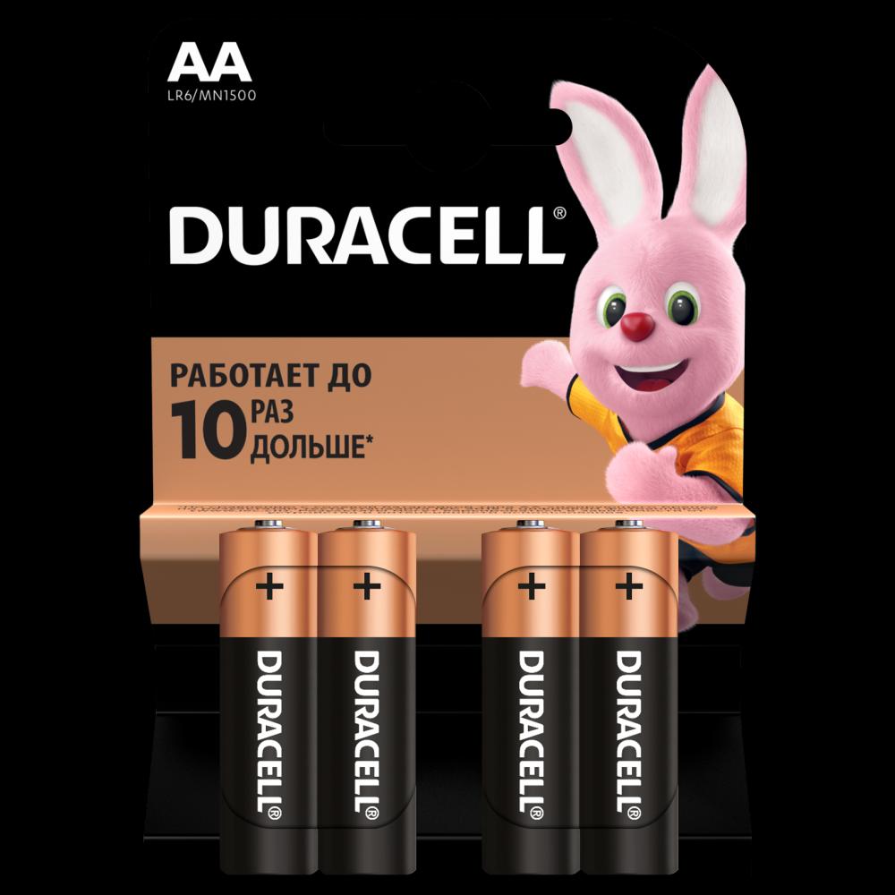 Елемент живлення Duracell лужний АА 1.5V 4шт