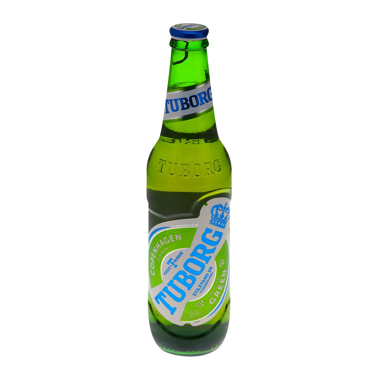 Пиво Tuborg Green світле пастеризоване 4.6% 0.33л