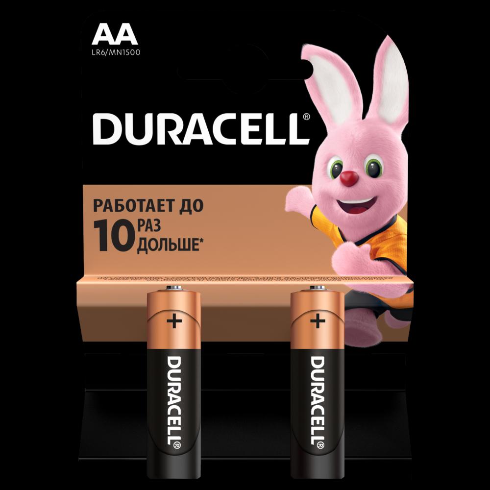 Батарейка Duracell Basic AA LR6 2 шт.