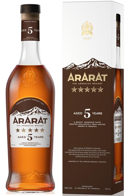 Коньяк Ararat 5 зірок вірменський 40% 0.5л