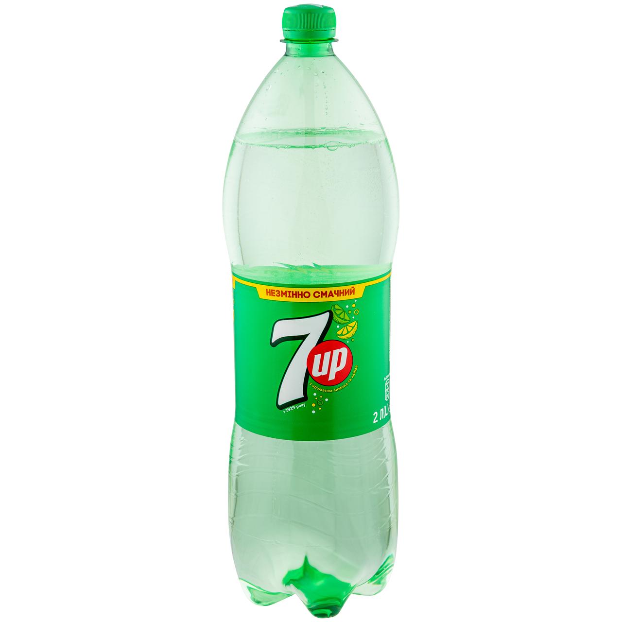 Напій 7UP з ароматом лимону та лайму безалк сильногаз 2л