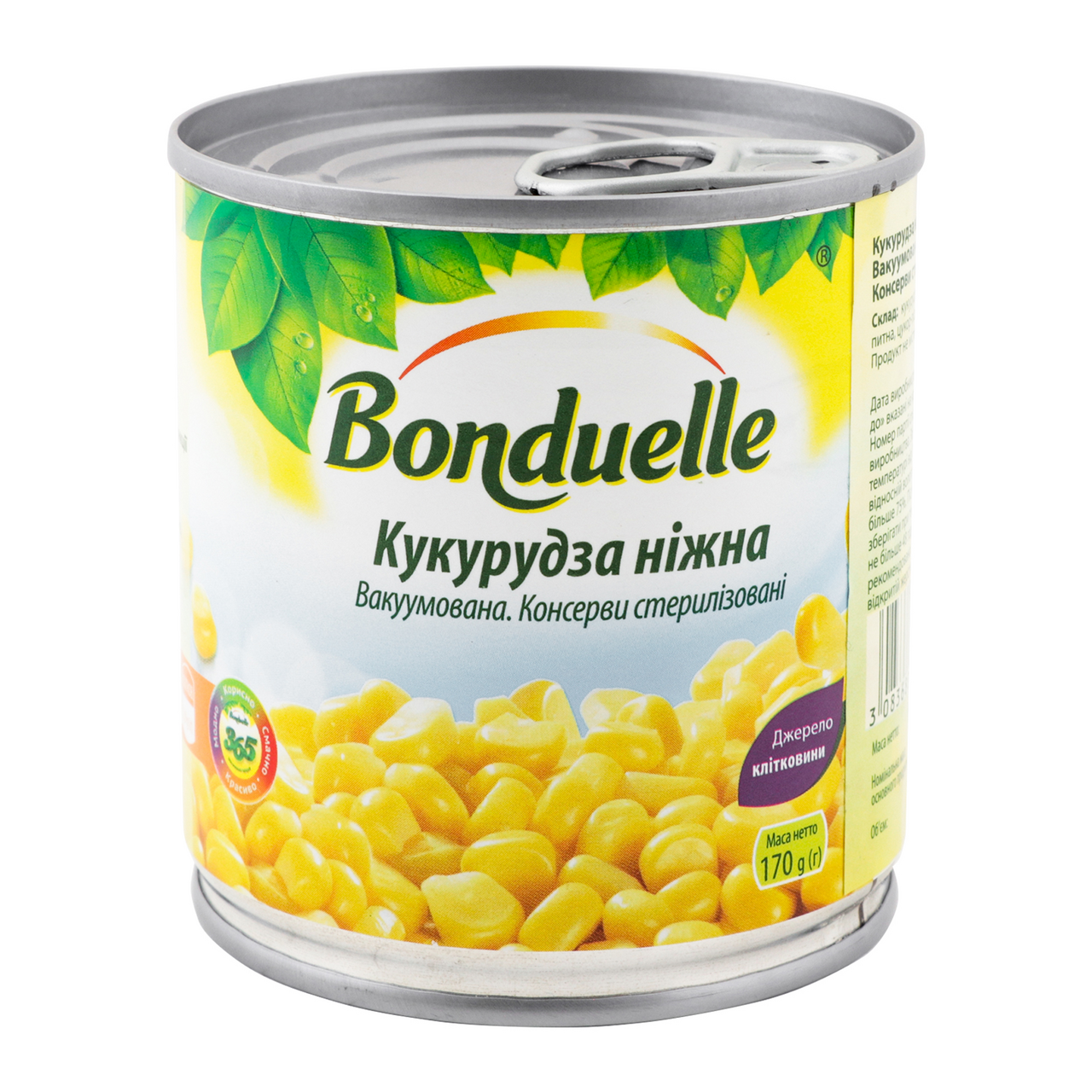 Кукурудза Bonduelle ніжна вакуумована консервована 212мл