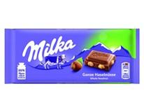 Milka Čokoláda mléčná s celými oříšky 8x100g