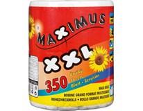 Maximus Utěrky papírové 2-vrstvé 350útržků 122m 1x1ks
