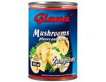 Giana Žampiony krájené 8x425ml