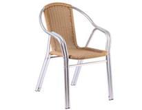 Židle Narni Metro Professional hliník/ PE ratan. výplet béžová 1ks