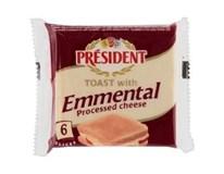 Président Emmental toast sýr tavený plátky chlaz. 4x120g