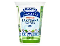 Madeta Jihočeská Smetana zakysaná 15% chlaz. 20x200g