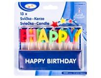 Svíčky Happy birthday na špejli 1bal