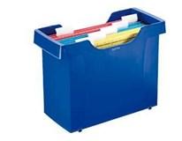 Zásobník Leitz 1ks + Desky závěsné Leitz ledově modré 5ks