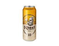 Velkopopovický Kozel světlý výčepní pivo 24x500ml plech