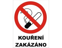 Samolepka Zákaz kouření 120x160mm 1ks
