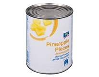 ARO Ananas kousky v mírně sladkém nálevu 6x850ml