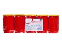 Svíčka hřbitovní olejová ARO 130g červená 5ks