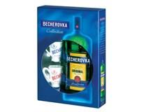Becherovka likér 38% 1x500ml + kalíšky 2ks